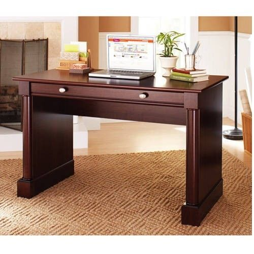 Modern Computer Desk Workstation Writing Table Home Office Laptop Drawers Wooden #ModernComputerDesk #Modern