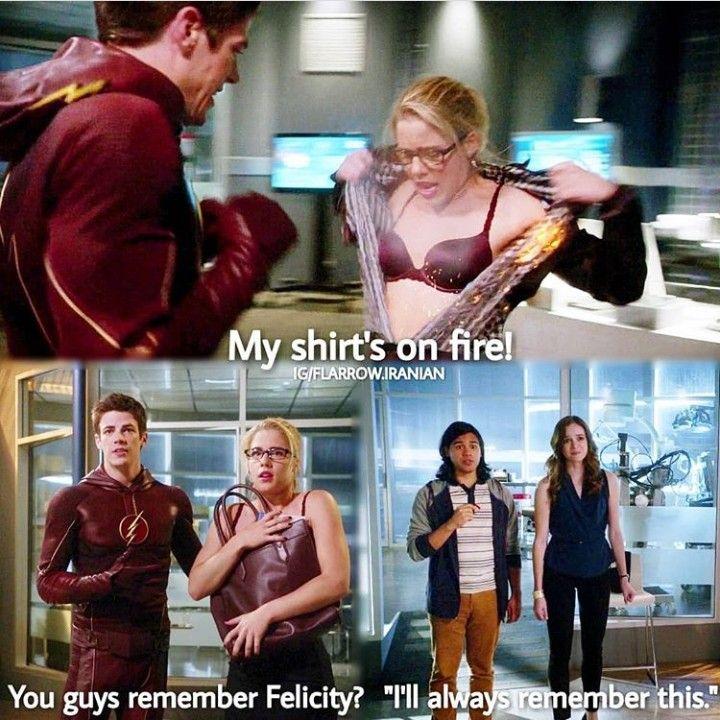 Arrow Felicity on The Flash