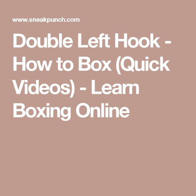 Double Left Hook - How to Box (Quick Videos) - Learn Boxing Online