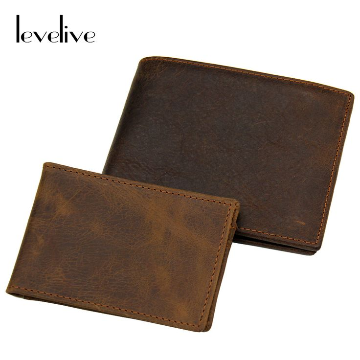 Find More Wallets Information about LEVELIVE Crazy Horse Cowhide Designer Bifold Wallet Men Vintage Top Genuine Leather Wallets with Card Wallet Brand Male Carteira,High Quality leather wallet kit,China wallet for men leather Suppliers, Cheap leather wrist wallet from levelive Store on Aliexpress.com
