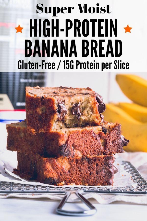High Protein Banana Bread Healthy Easy Recipe Protein Banana Bread Banana Bread Healthy Easy Healthy Banana Bread