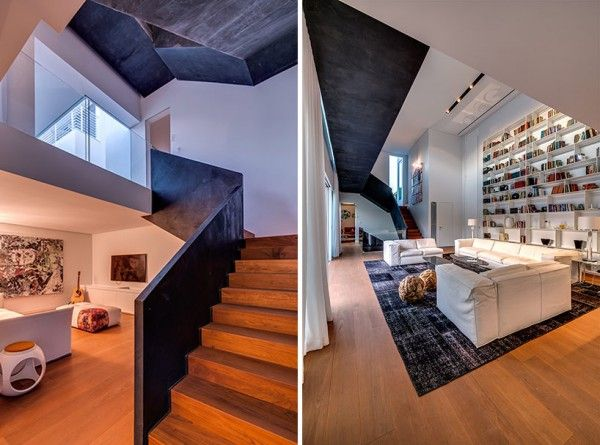 Segmented cubes residence israel nestor sandbanks archi interiors pinterest staircases and architecture