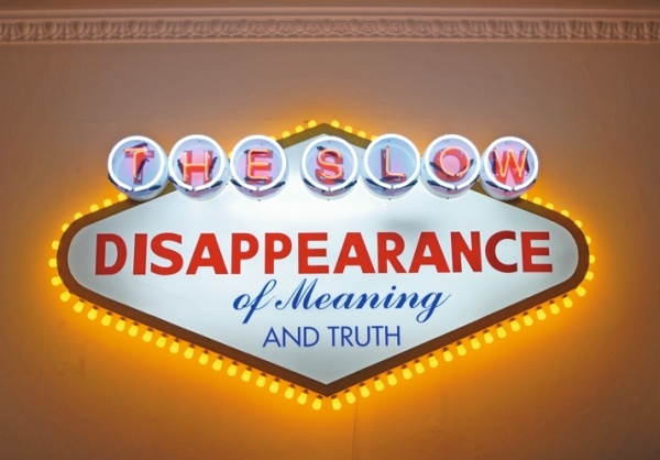 """Robert Montgomery """"works in a poetic and melancholic post-situationist tradition"""": Texts, Las Vegas, Street Artists, Typography Quotes, Neon Signs, Ghosts, Slow Disappearing, Truths, Robert Montgomery"""
