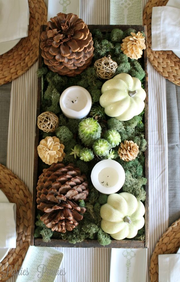 Thanksgiving Table - Natural Centerpiece #Anthropologie #PinToWin