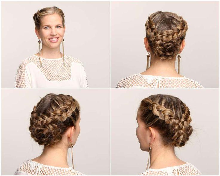 RESULTAT: En nydelig og avansert flette, som holder alt håret på plass hele kvelden og ser usedvanlig nydelig ut.