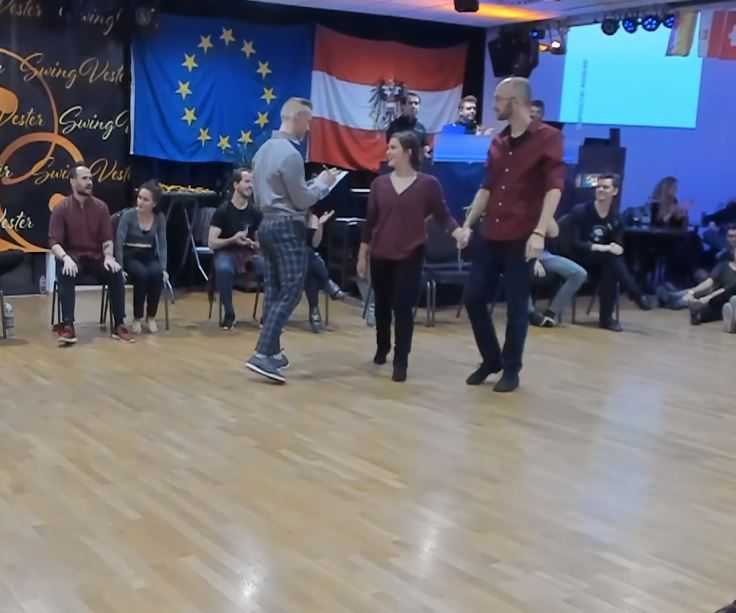 """Room fills with laughter when couple dances to """"Bare"""
