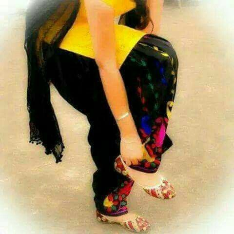 Black yellow punjabi suit