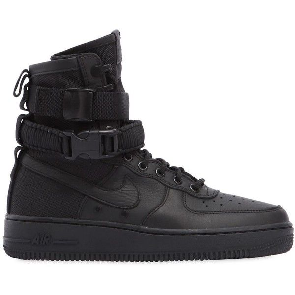 sale retailer b4ccb d6b17 Nike Women Sf Air Force 1 High Top Sneakers ( 220) ❤ liked on Polyvore  featuring shoes, sneakers, leather shoes, hi tops, leather high top sneakers,  ...