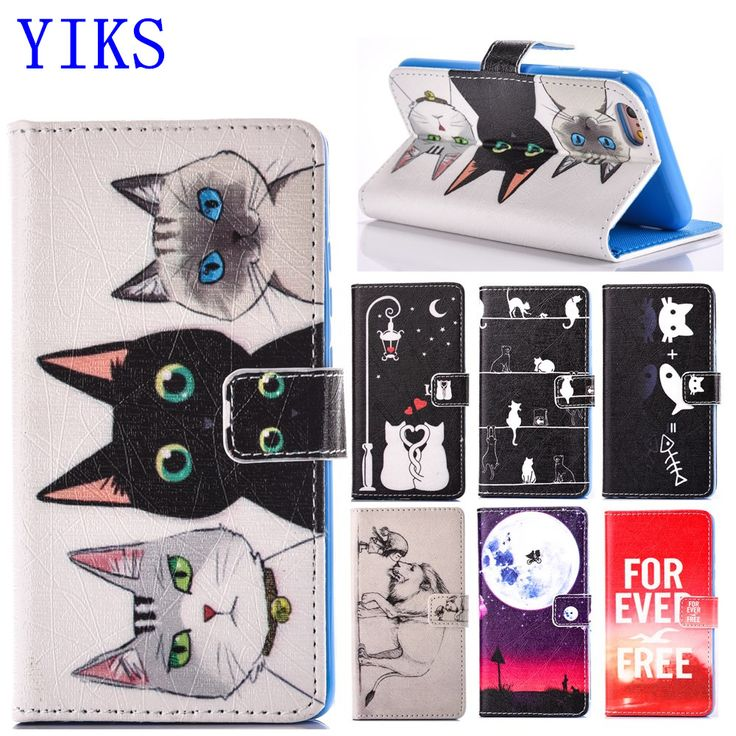 For iPhone 5 5S SE 5C 6 6S Case Cartoon Cat Leather Wallet Cover For Fundas iPhone 5S Case 2017 New arrival For Coque iPhone 6S