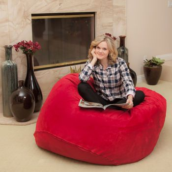 Costco Lila Red Faux Suede Bean Bag Playroom Ideas