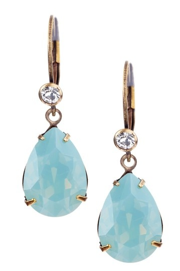 Liz Palacios    Swarovski Crystal Teardrop Earrings