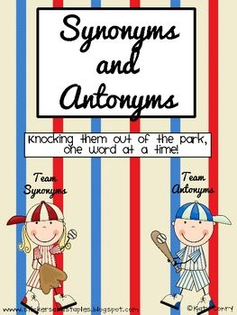 This is a packet meant to review or accompany your synonyms and antonyms unit!! Your kids will LOVE the baseball theme, and it can be used any time...