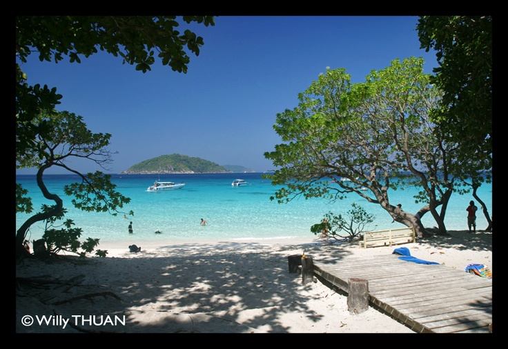 Similan Islands in Thailand.. isn't it a dream come true? They do have tiny basic bungalows... with A/C!  http://phuket101.blogspot.com/2011/01/similan-islands-thailand.html