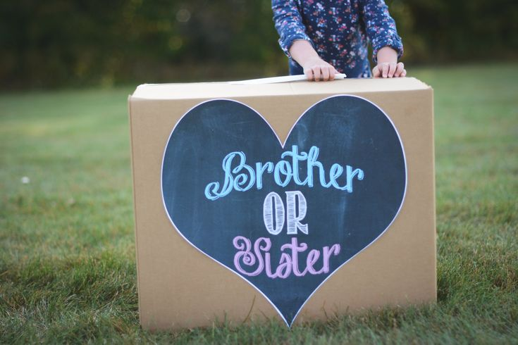 Gender reveal box brother or sister