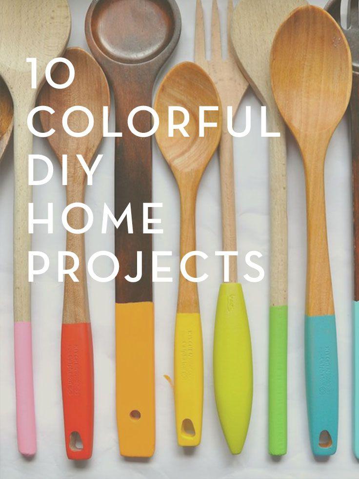 Lovely idea for brightening up your #utensils! #diy