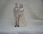 Ceramic wedding cake topper, hand made, personalized