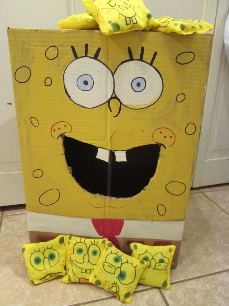 walk in the sunshine: Spongebob Squarepants Bean Bag Toss Game