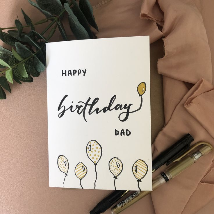 pennedem  custom birthday card  happy birthday dad
