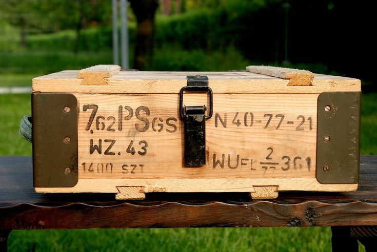 Wooden Ammo Box Military Wood Crate Ammunition Army Salvage Chest Loft Wooden Trank Coffe Table Component Man Cave Gift Coffer by SlawekTreasures on Etsy