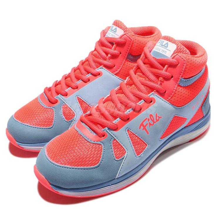Fila C923P Blue Pink Womens Wedge Sneakers Hidden Heel Shoes 5-C923P-322