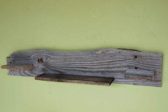 Estante flotante de madera recuperada por rdsoifer en Etsy