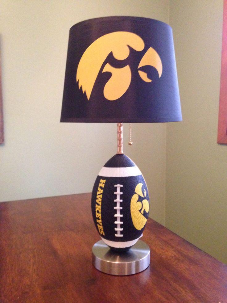 Iowa Hawkeyes football Lamp by thatlampguyGraz on Etsy https://www.etsy.com/listing/183236760/iowa-hawkeyes-football-lamp