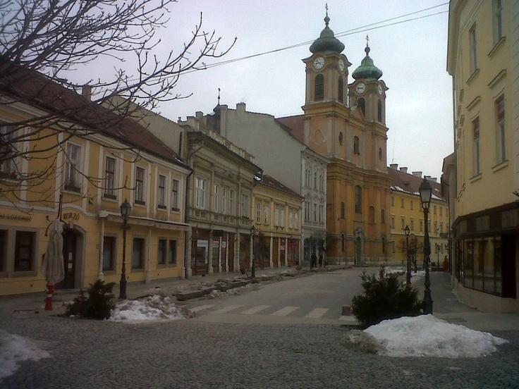 Szekesfehervar,downtown