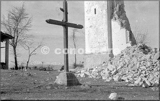 santuario di brasa - castel d'aiano - bo aprile 1945 danni guerra gothic line
