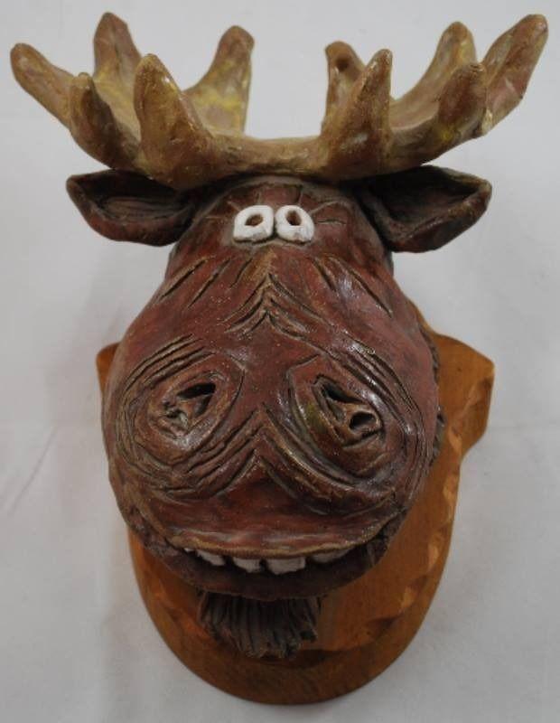 Ceramic Moose Mount Head