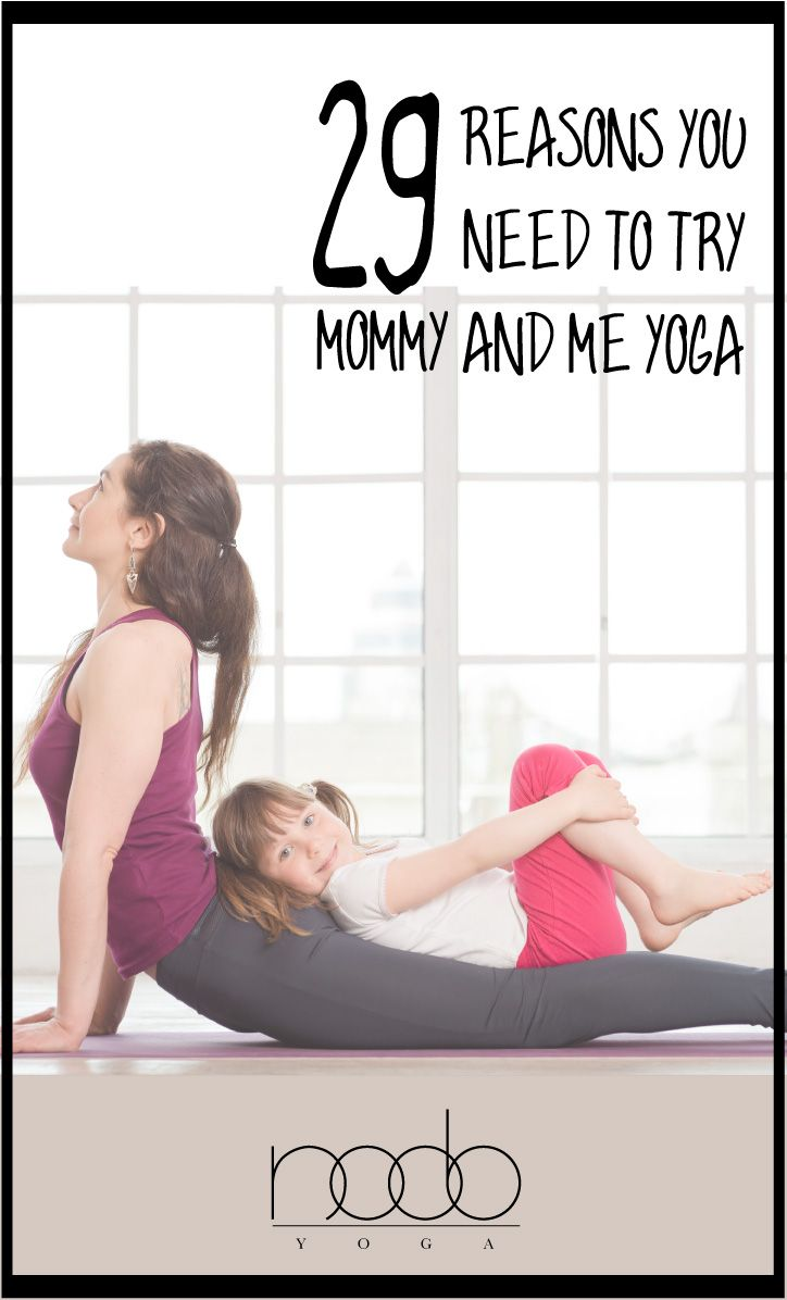 More fun, more friends, more strength, more smarts! What's not to love about mommy and me yoga? #yoga