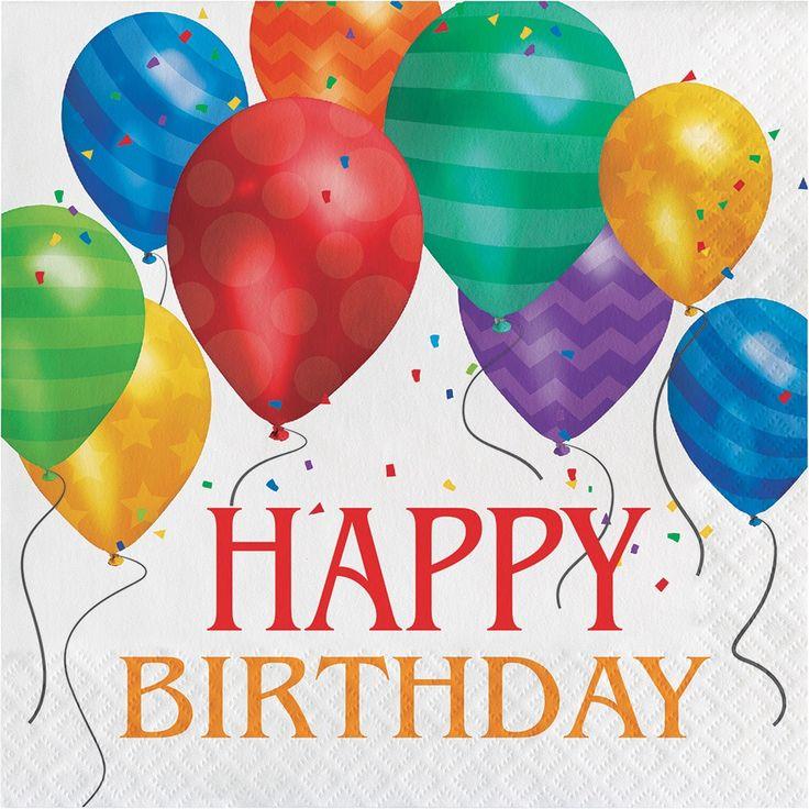 Creative Balloon Blast Happy Birthday Lunch Napkins