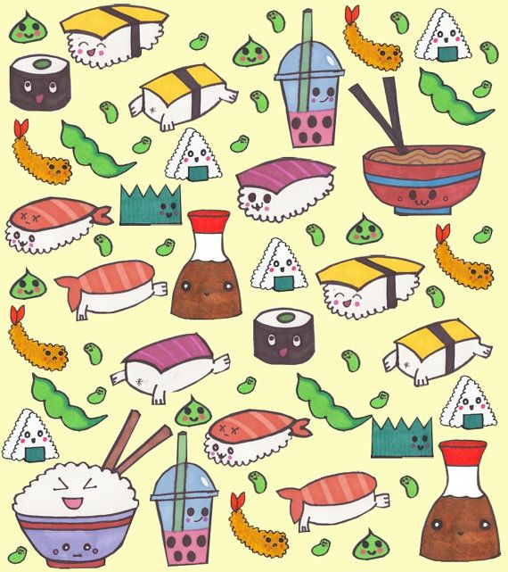 Sushi Wallpaper Anime Cute