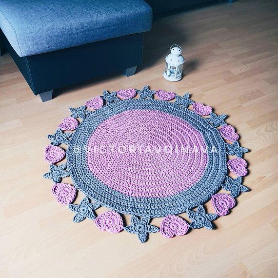 Pink Nursery Crochet Rug For Baby Room Decor Pink Nursery Rug Crochet Rug Crochet Nursery