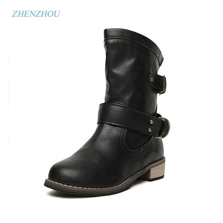 The autumn winter new style, retro, with flat cow leather and velvet Martin boots, with round head, short boots women's shoes
