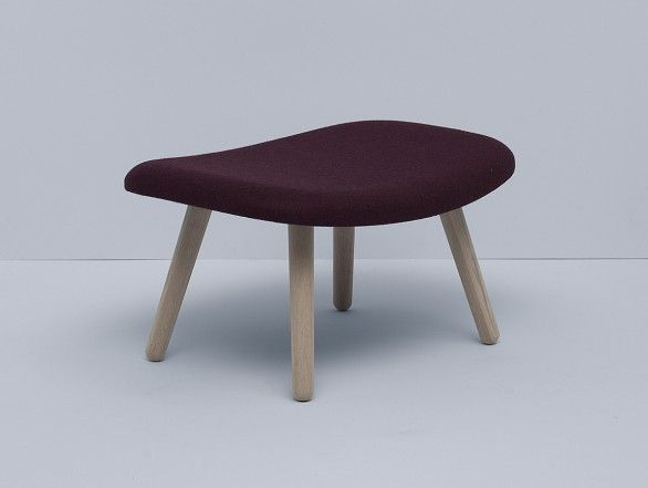 Hay About an Ottoman - aubergine