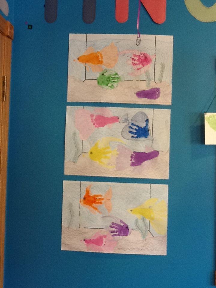 Handprint Footprint Fish Tank Infant Toddler Room