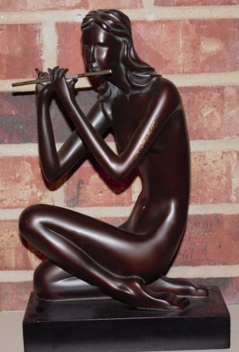 $100/$20. The-Flute-Player-Austin-Sculpture-The-Kinder-Collection-Retired-Very-Rare