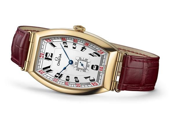 Omega, long time official timekeeper of the Olympics, has released Sochi Petrograd Limited Edition Art Deco Watch for 2014 Winter Olympics. The watch features 18K yellow gold case, burgundy strap, a unique dial color that represent Russian flag.