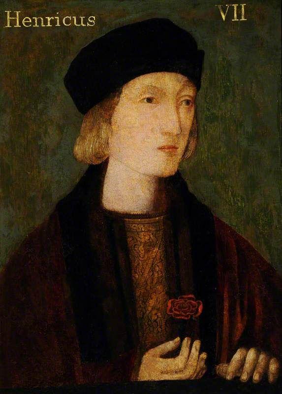 Retrato Póstumo de Henrique VII, por English School em 1510-1520.Retrato de Henrique VII, por artista desconhecido em 1505.Retrato póstumo de Henrique VIII por artista desconhecido.Retrato Pós…