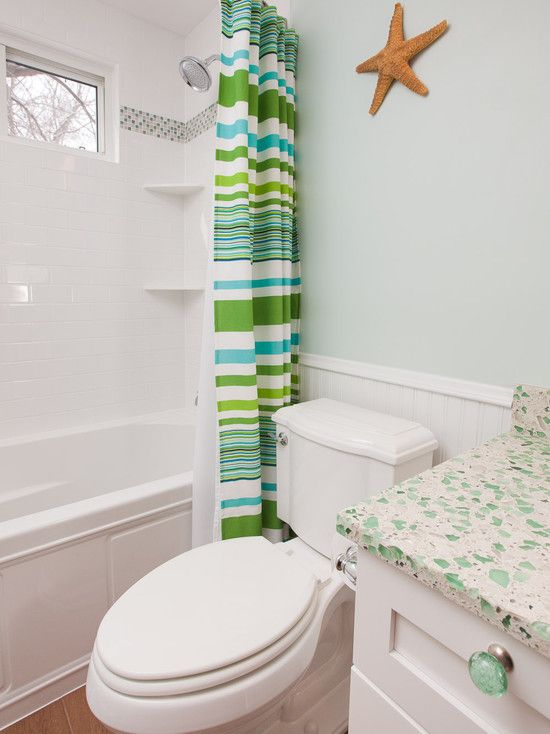Subway Tile With Glass Border Spaces Beach House Interior Design Design Pictures Remodel