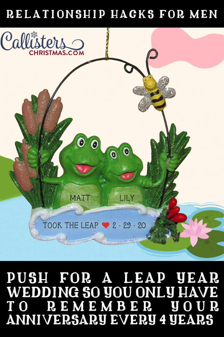 Frog Couple in Water Ornament in 2020 Personalized