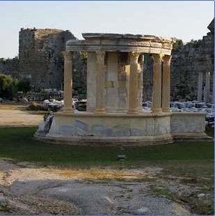 Tyche Temple-Built in 2th Century-Side-Manavgat-Antalya-Turkiye