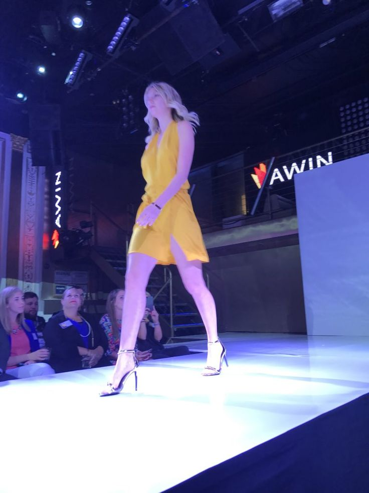 Short yellow romper from Missguided   as seen at the Awin Fashion Show in nyc 2017
