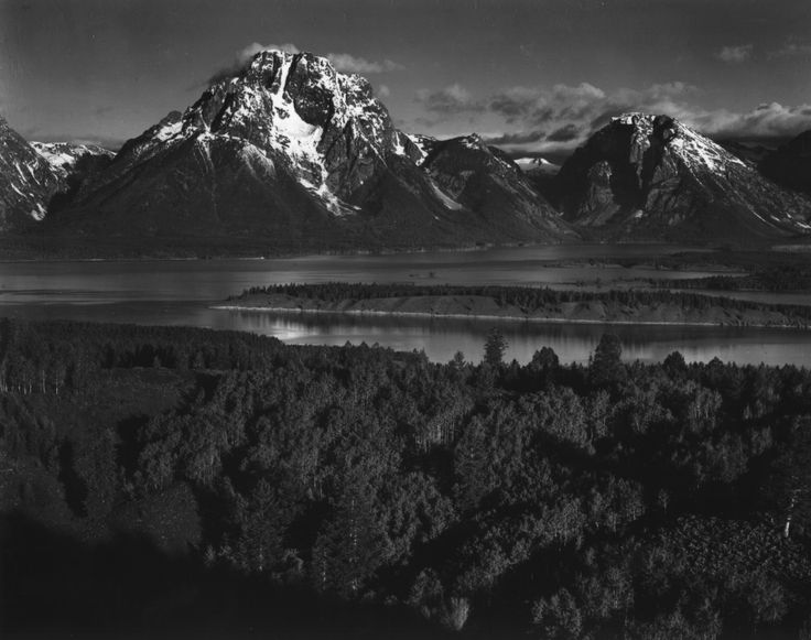 Undoubtedly my favorite photographer- Ansel Adams. Love the dark, contrasy black and white of this shot.