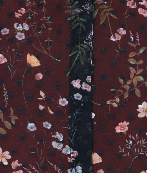 Chemise transparente à imprimés fleuris - BLOSSOM - NOIR - Etam