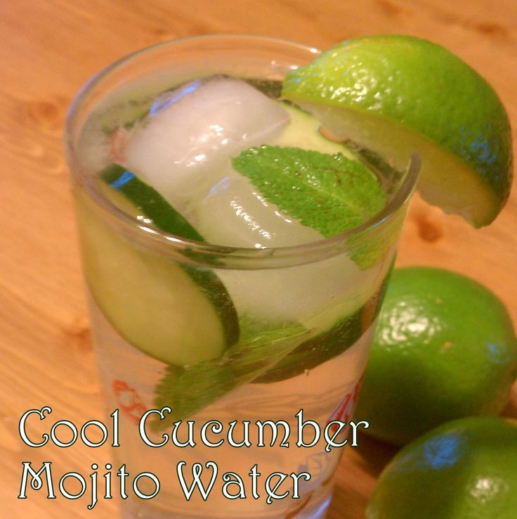 {Recipe ReDux} Green with Herb Envy: Cool cucumber mojito water