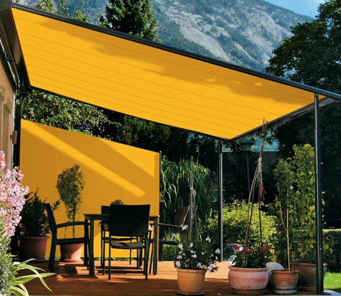 Sonnensegel Fur Terrasse Gelb Grell Stoff Patio Shade Shade Sails Patio Backyard Shade