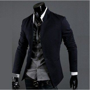 Edgy, yet, classic. the single button puts me on edge because of the slim(ness) of the outfit, but I i do enjoy it. Free Shipping 2012 New Fashion Stylish Men's Suit, Men's Blazer, Business Suit, Formal Suit, Color: Black,Gray,Navy Size: M-XXL: Style, Men S Fashion, Mens, Blazers, Buttons, Blazer Jacket