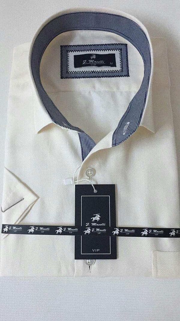 Изготовитель:    Maselli(Турция) Материал:    коттон Стиль:    классика  Принт:    абстрактный Тип кроя:    классический Рукав:    короткий  Цена за ед.:    7.80 $  Цена за упаковку.:    39.00 $   Количество в упаковке:    5 Моделька:айвори в синюю клетку (Артикул: 00084-2613)