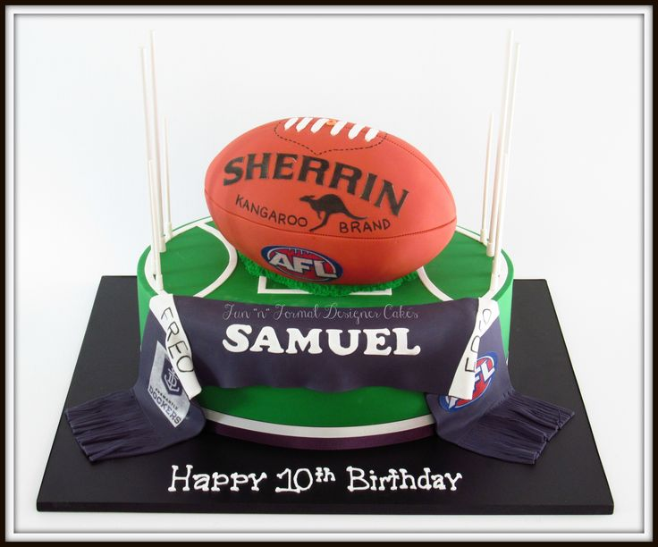 AFL themed birthday cake
